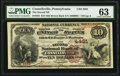 National Bank Notes:Pennsylvania, Connellsville, PA - $10 1882 Brown Back Fr. 484 The Second National Bank Ch. # 4481 PMG Choice Uncirculated 63.. ...