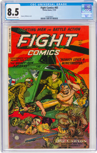Fight Comics #83 (Fiction House, 1952) CGC VF+ 8.5 Off-white to white pages