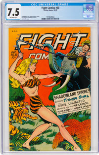 Fight Comics #53 (Fiction House, 1947) CGC VF- 7.5 Off-white pages
