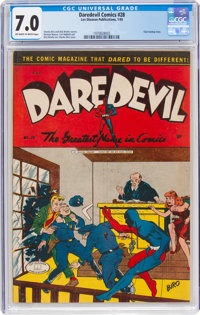 Daredevil Comics #28 (Lev Gleason, 1945) CGC FN/VF 7.0 Off-white to white pages