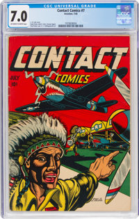 Contact Comics #7 (Aviation Press, 1945) CGC FN/VF 7.0 Off-white to white pages