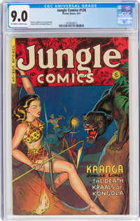 Jungle Comics #136 (Fiction House, 1951) CGC VF/NM 9.0 Off-white to white pages