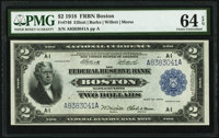 Fr. 749 $2 1918 Federal Reserve Bank Note PMG Choice Uncirculated 64 EPQ