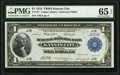 Low Serial Number J105A Fr. 737 $1 1918 Federal Reserve Bank Note PMG Gem Uncirculated 65 EPQ