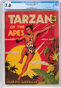 Large Feature Comic (Series I) #5 Tarzan (Dell, 1939) CGC FN/VF 7.0 Cream to off-white pages