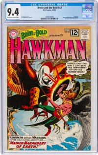 The Brave and the Bold #43 Hawkman (DC, 1962) CGC NM 9.4 Off-white to white pages