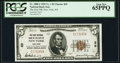 New York, NY - $5 1929 Ty. 1 The First National Bank Ch. # 29 PCGS Gem New 65PPQ