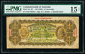 Australia Commonwealth Bank of Australia 1/2 Sovereign ND (1928) Pick 15c R7 PMG Choice Fine 15 NET