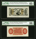 Fractional Currency:Third Issue, Fr. 1324SP 50¢ Third Issue Spinner Wide Margin Face PMG Gem Uncirculated 65 EPQ. Fr. 1324SP 50¢ Third Issue Spinner Wide M... (Total: 2 notes)
