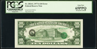 Third Printing on Back Error Fr. 2024-L $10 1977A Federal Reserve Note. PCGS Gem New 65PPQ