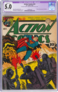 Golden Age (1938-1955):Superhero, Action Comics #53 (DC, 1942) CGC Apparent VG/FN 5.0 Slight (B-1) Off-white to white pages....