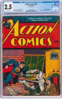 Action Comics #32 (DC, 1941) CGC GD+ 2.5 Off-white pages