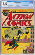 Golden Age (1938-1955):Superhero, Action Comics #33 (DC, 1941) CGC VG- 3.5 Off-white to white pages....
