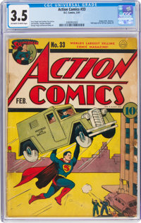 Action Comics #33 (DC, 1941) CGC VG- 3.5 Off-white to white pages