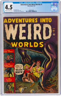 Adventures Into Weird Worlds #1 (Atlas, 1952) CGC VG+ 4.5 Cream to off-white pages