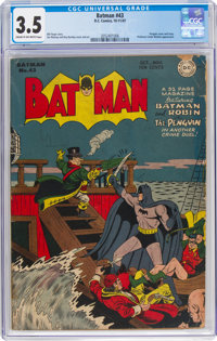 Batman #43 (DC, 1947) CGC VG- 3.5 Cream to off-white pages