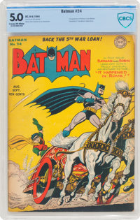 Batman #24 (DC, 1944) CBCS VG/FN 5.0 Cream to off-white pages