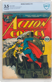 Action Comics #41 (DC, 1941) CBCS VG- 3.5 Cream to off-white pages