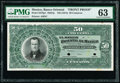 Mexico Banco Oriental 50 Centavos ND (1914) Pick S378p1 M457p Front Proof PMG Choice Uncirculated 63
