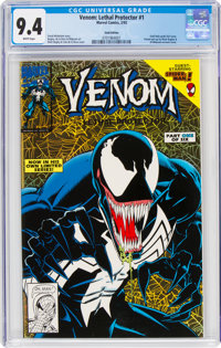 Venom: Lethal Protector #1 Gold Edition (Marvel, 1993) CGC NM 9.4 White pages