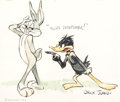Animation Art:Photograph, Bugs Bunny and Daffy Duck Studio Publicity Photo Print (Warner Brothers, 1990)....