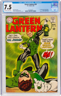 Green Lantern #59 (DC, 1968) CGC VF- 7.5 Off-white to white pages