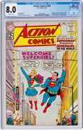 Silver Age (1956-1969):Superhero, Action Comics #285 (DC, 1962) CGC VF 8.0 Off-white pages.