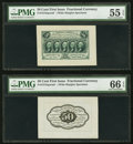 Fractional Currency:First Issue, Fr. 1313SP 50¢ First Issue Wide Margin Face PMG About Circulated 55 EPQ. Fr. 1313SP 50¢ First Issue Wide Margin Back PMG G... (Total: 2 notes)