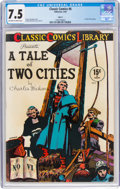 Classic Comics #6 A Tale of Two Cities - HRN 18 (Gilberton, 1944) CGC VF- 7.5 Off-white to white pages