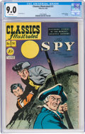 Golden Age (1938-1955):Classics Illustrated, Classics Illustrated #51 The Spy - First Edition (Gilberton, 1948) CGC VF/NM 9.0 White pages....
