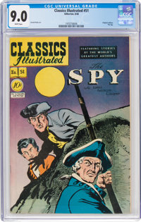Classics Illustrated #51 The Spy - First Edition (Gilberton, 1948) CGC VF/NM 9.0 White pages