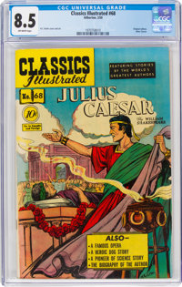 Classics Illustrated #68 Julius Caesar - First Edition (Gilberton, 1950) CGC VF+ 8.5 Off-white pages