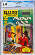 Golden Age (1938-1955):Classics Illustrated, Classics Illustrated #76 The Prisoner of Zenda - First Edition (Gilberton, 1950) CGC VF/NM 9.0 Off-white to white pages....