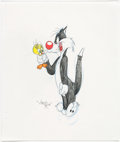 Animation Art:Production Drawing, Virgil Ross - Tweety and Sylvester Illustration (Warner Brothers, c. 1990s)....