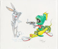Animation Art:Production Drawing, Virgil Ross - Bugs Bunny, Marvin the Martian and K-9 Drawing Original Art (Warner Brothers, c. 1990s)....