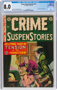 Crime SuspenStories #14 (EC, 1952) CGC VF 8.0 Off-white pages