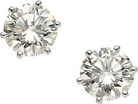 Diamond, White Gold Earrings, Cartier, French