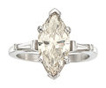 Estate Jewelry:Rings, Diamond, Platinum Ring The ring features a mar...
