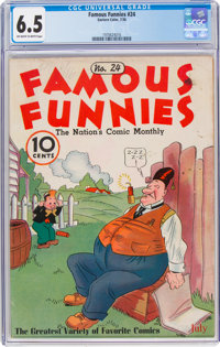 Famous Funnies #24 (Eastern Color, 1936) CGC FN+ 6.5 Off-white to white pages