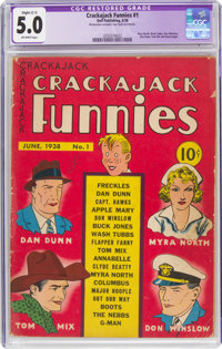 Crackajack Funnies #1 (Dell, 1938) CGC Apparent VG/FN 5.0 Slight (C-1) Off-white pages