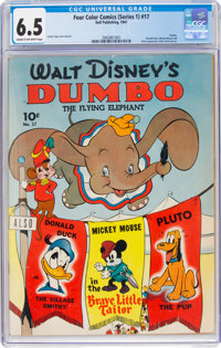 Four Color (Series One) #17 Dumbo (Dell, 1941) CGC FN+ 6.5 Cream to off-white pages