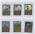 """Memorabilia:Trading Cards, Magic the Gathering Unlimited Green """"Uncommon"""" Cards Group of 6 (Wizards of the Coast, 1993) Condition: Average NM.... (Total: 6 Items)"""