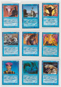 """Memorabilia:Trading Cards, Magic the Gathering Unlimited Blue """"Common"""" Cards Group of 124 (Wizards of the Coast, 1993) Condition: Average NM.... (Total: 124 Items)"""