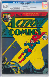 Action Comics #39 (DC, 1941) CGC FN 6.0 Off-white pages