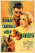 "Movie Posters:Hitchcock, The 39 Steps (Gaumont, 1935). Very Fine on Linen. One Sheet (27"" X 41"").. ..."