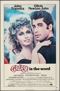 "Grease (Paramount, 1978). Folded, Fine/Very Fine. One Sheet (27"" X 41""). Musical"