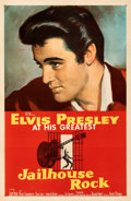 "Movie Posters:Elvis Presley, Jailhouse Rock (MGM, 1957). Very Fine- on Linen. One Sheet (27"" X 41""). Bradshaw Crandell Artwork.. ..."
