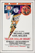 "Movie Posters:Thriller, Billion Dollar Brain (United Artists, 1967). Folded, Very Fine-. One Sheet (27"" X 41""). Thriller.. ..."