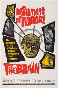 "The Brain (Governor Films, 1962). Folded, Very Fine/Near Mint. One Sheet (27"" X 41""). Horror"