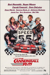 "The Cannonball Run (20th Century Fox, 1981). Folded, Very Fine-. One Sheet (27"" X 41""). Drew Struzan Artwork..."